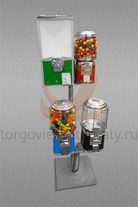 Аппарат по продаже бахил, жевательной резинки, конфет, мячей-прыгунов и игрушек Kraft-3+1